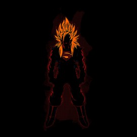 shirt Super Saiyan black man