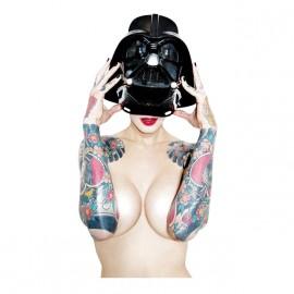 Darth Vader camisa de la muchacha blanca