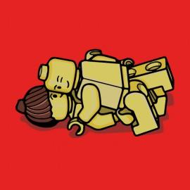 amor camiseta roja lego
