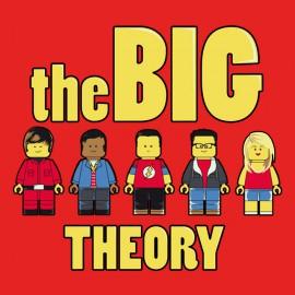 camisa de la teoría rojo grande