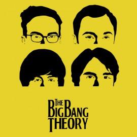 tee shirt big bang theory jaune