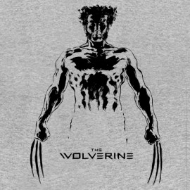 tee shirt the wolverine girs