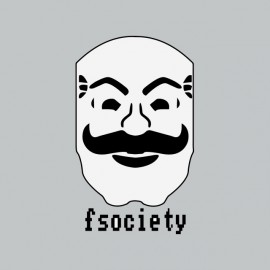 tee shirt fsociety mr robot gris