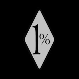 Camisa 1% motoristas negro