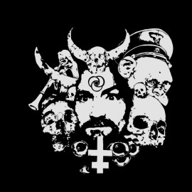tee shirt charles manson sataniste noir