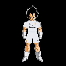 Vegeta camisa de color negro real madrid