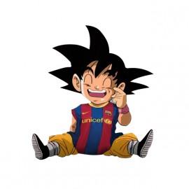 Goku camisa blanca barcelona