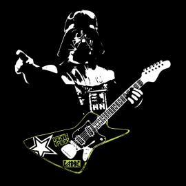 star wars vaders guitar t shirt noir