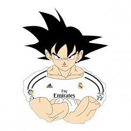 tee shirt goku real madrid blanc