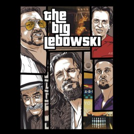 tee shirt the big lebowski gta noir