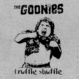 the goonies tee shirt truffle shuffle gray