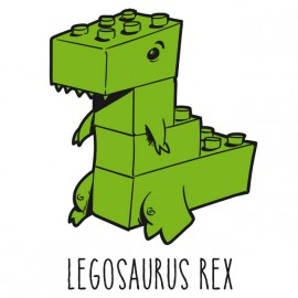 Tee Shirts Legosaurus Rex - Blanco