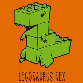 Legosaurus Rex t-shirt - Orange