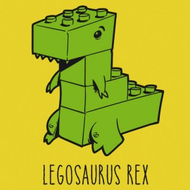Tee Shirts Legosaurus Rex - Amarillo