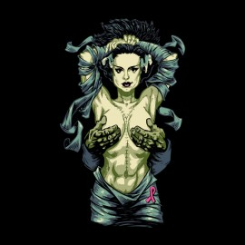 shirt bride of frankenstein black