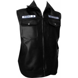 veste sons of anarchy first 9 cuir  et patchs brodés