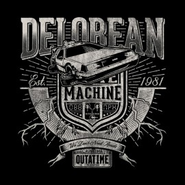 delorean black shirt Machine