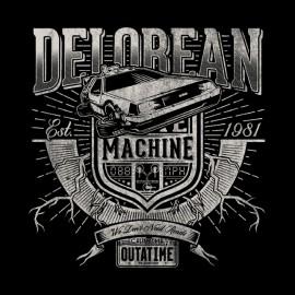 DeLorean camisa Máquina negro