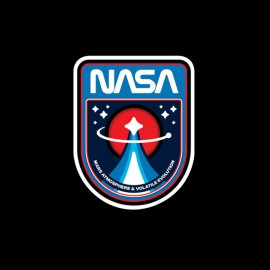 black tee shirt NASA