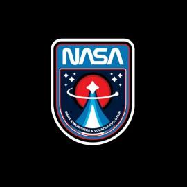 negro camiseta de la NASA