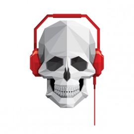 music skull t-shirt white