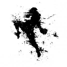 arte camisa blanca de boxeo