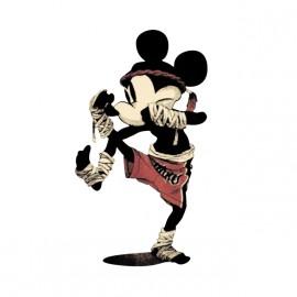camisa blanca de boxeo Mickey Mouse