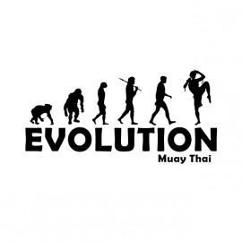 Camiseta de la evolución de muay thai blanco