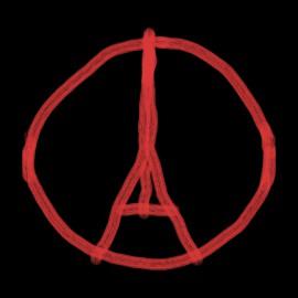 shirt paris peace Eiffel black