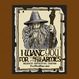 shirt gandalf we want you brown