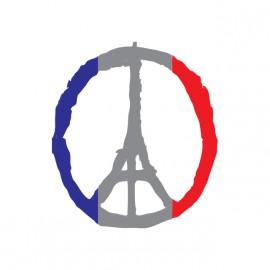 tee shirt pray for paris blanc