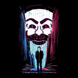 anónimo negro de la camiseta del robot mr