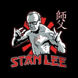 camisa de Stan Lee vs Bruce Lee Negro
