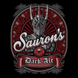 camisa de la cerveza señor Sauron de los anillos negros