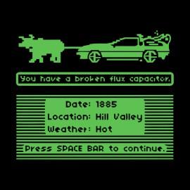 Camisa DeLorean condensador de flujo negro roto