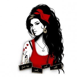 amy winehouse rip white shirt