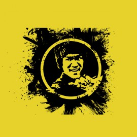 bruce lee shirt splash yellow