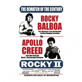 tee shirt rocky balboa contre apollo creed blanc