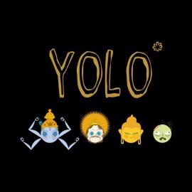 tee shirt yolo religions noir