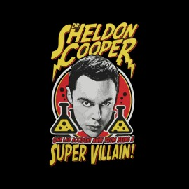 shirt sheldon cooper black super villain