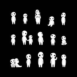espíritus de la camisa de la naturaleza negro