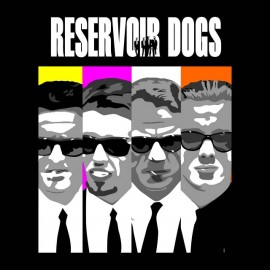 Reservoir Dogs bd negro camiseta