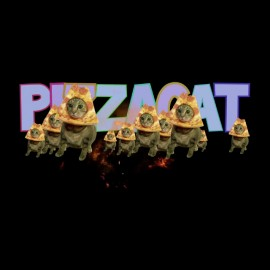 pizzacat of space t-shirt