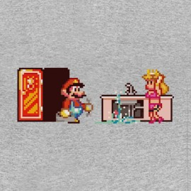 tee shirt mario the plumber and pitch