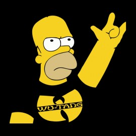 tee shirt homer simpson wu tang clan