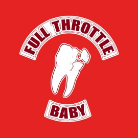 tee shirt full throttle rouge