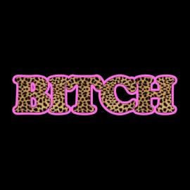 Black bitch leopard t-shirt