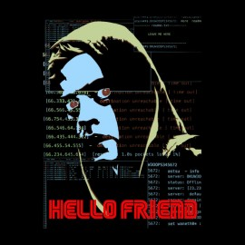 t-shirt hello friend mr robot