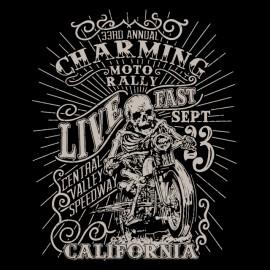 tee shirt charming moto rally