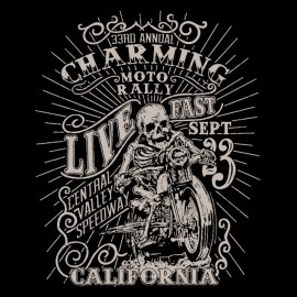 charming bike rally t-shirt